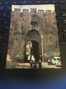 Vintage Postcard: Jerusalem, Lion's Gate