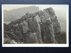 Staffordshire LEEK The Roaches - Old RP Postcard