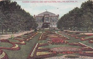 Pennsylvania Philadelphia Sunken Gardens And Horticultural Hall 1916