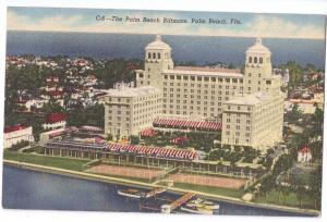 Palm Beach Biltmore Florida FL 1953 Curteich Linen Postcard
