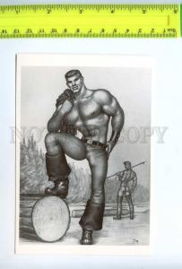 219197 Tom of FINLAND gay theme drawing old postcard