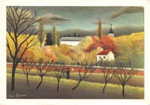 Vintage Postcard Art Suburban Landscape by Henri Rousseau (1898) #870