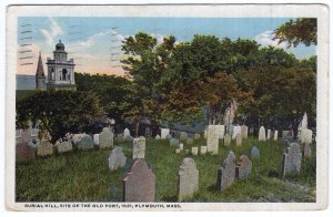 Plymouth, Mass, Burial Hill, Site Of The Old Fort, 1621