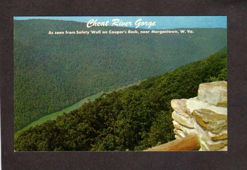 WVWV Cheat River Gorge Cooper's Rock nr Morgantown West Virginia Postcard
