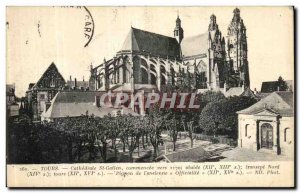 Postcard Old Tours Cathedrale Saint Gatien