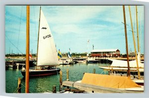 Dewey DE- Delaware, Dewey Beach, Sailing Boats, Chrome Postcard
