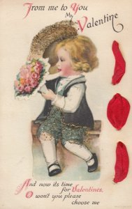 Woven Ribbon ;Valentine Child , Ellen Clapsaddle , 00-10s