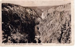 Canyon from Artist's Point Yellowstone National Park, 1907
