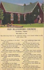 Virginia Petersburg Old Blandford Church 1957