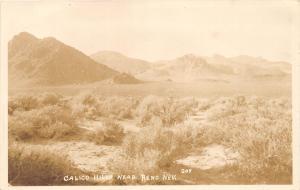 D82/ Reno Nevada NV Real Photo RPPC Postcard c1940s Calico Hills Geology