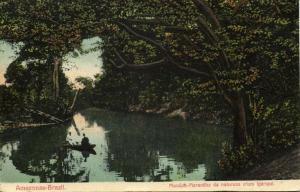 brazil, MANAOS MARAVILHA, Amazonas Igarapé (1913) Stamp, Bazar Passe-Partout