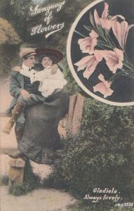 The Language Of Flowers Gladiola Antique Postcard