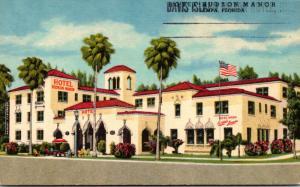 Florida Tampa Hotel Hudson Manor 1965 Curteich