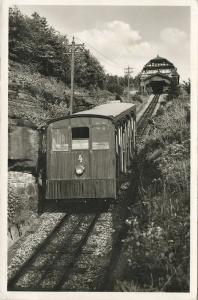 germany, HEIDELBERG, Heidelberger Bergbahn zum Königsstuhl, Funicular (1953)