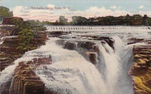 New York Glens Falls The Falls 1915