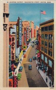 P1727 1940 used store signs, Theatre  old cars etc washington st boston mass