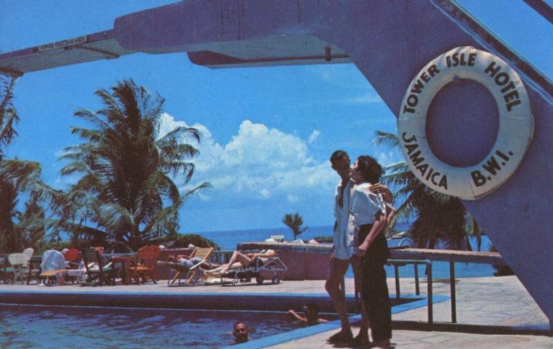 Tower Isle Hotel Jamaica BWI Swimming Pool Unused Postcard D15