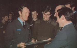 Prince Andrew Receives Parachute Parachutist Wings Brize Norton Royal Postcard