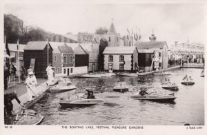 Festival Of Britain The Rowing Boats Boating Lake Ships Southbank RPC Postcard