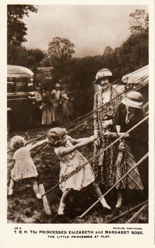 Royalty Princesses Elisabeth & Margaret Rose. The Little Princesses at Play