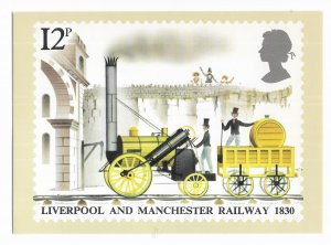 Great Britain PHQ Postcard of 1980 Liverpool & Manchester Railway, Scott 904