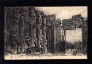 034350 LEBANON BAALBECK Jupiter temple Vintage PC