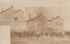 RP:  HOISINGTON , Kansas, 1900-10s ; School Building Fire