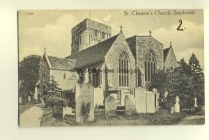 cu1473 - St Clement's Church , Sandwich , Kent - postcard