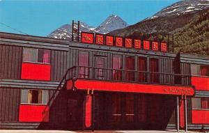 Skagway Alaska~Red & Black Klondike Hotel~1967 Postcard
