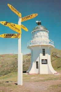 CAMP REINGA LIGHTHOUSE, New Zealand, 1950-60s; Signpost