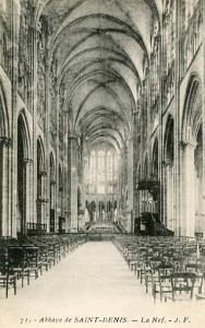 France - Paris, St. Dennis Abbey, The Nave