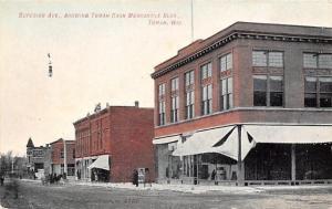 Tomah Wisconsin~Superior Avenue~Cash Merchantile~Undertaker~Furniture~1908 PC