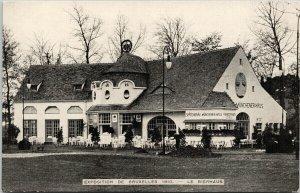 Exposition de Bruxelles 1910 Le Bierhaus Worlds Fair Unused Postcard E71