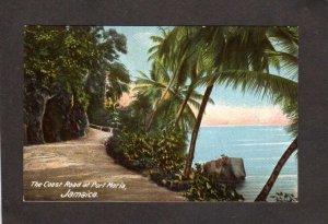 Jamaica West Indies Coast Road at Port Maria Jamaica Postcard UDB Carribbean