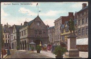 Shropshire Postcard - The Market Square, Shrewsbury     RS4001