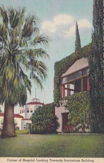 California Los Angeles Corner Of Hospital Looking Towards Sanitarium Building