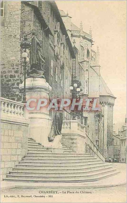 Old Postcard Chambery Chateau Square