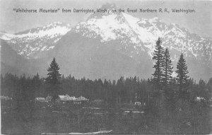 Darrington Washington White Mountains Railroad Puget Sound Postcard 21-2656