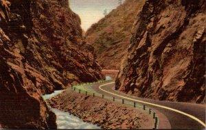 Colorado Rocky Mountains Big Thompson Canon 1958 Curteich