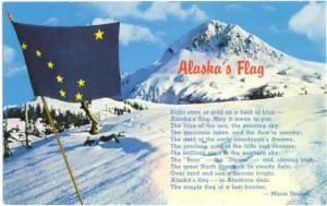 Alaska State Flag. the 49th State and Poem by Marie Drake, Pre-zip code