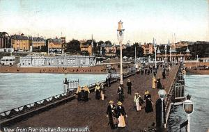 England Bournemouth, View from Pier shelter, animated 1908