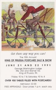 Pennsylvania King Of Prussia Postcard Sale & Show 1991