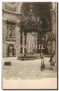 Old Postcard Italy Italia Roma S Pietro Paolo da Confessione Costruita V