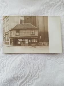 Antique Postcard Old Curiosity Shop, Immortalized by Charles Dickens.