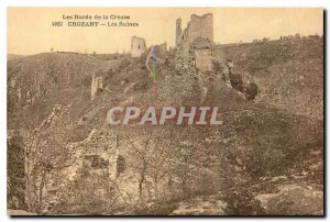 Old Postcard The Banks of the Creuse Crozant Ruins