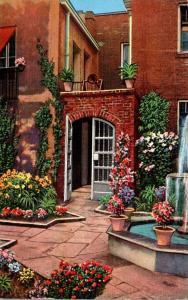 Louisiana New Orleans Little Theatre Courtyard 1940