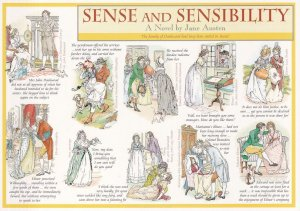 Sense & Sensibility Jane Austen Book Giant Rare Postcard