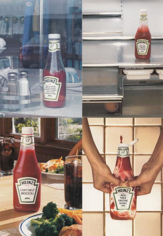 Heinz Tomato Ketchup 4x Advertising Postcard s