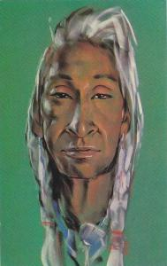 Oil and water color painting, Indian Chief,  40-60s
