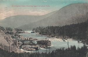 BONNINGTON FALLS, British Columbia, Canada, PU-1912 ; Upper & Lower Falls